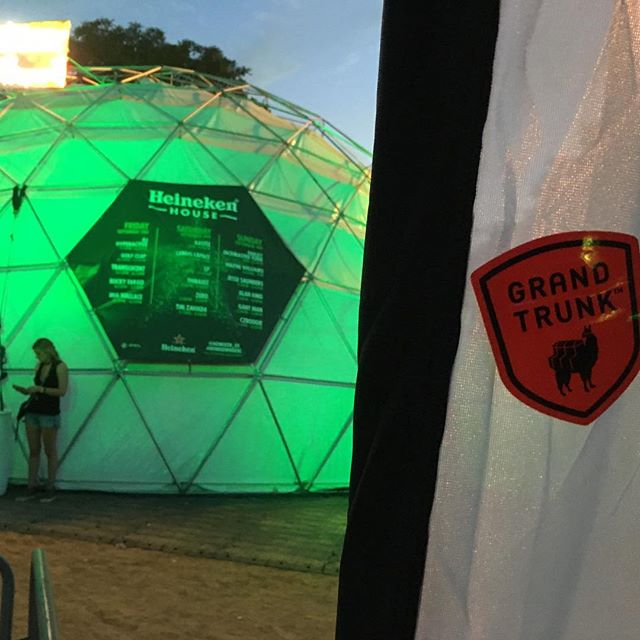 The Heineken House was looking absolutely epic this weekend at #NCMF. #geodesic #dome #northcoast #musicfestival