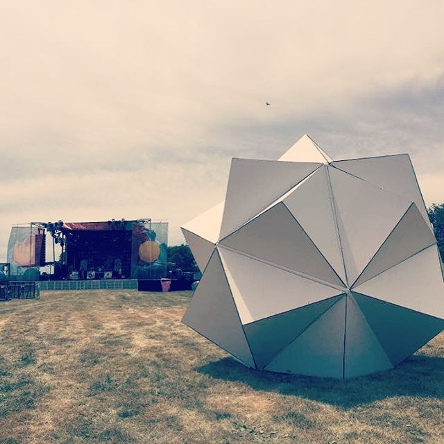 We're gearing up for festival season! Who's ready?  #musicfestival #sculpturalart #triambic #icosahedron #Chicago #chicagoartist