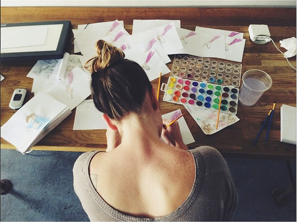 Hannah Elder hand-painted every frame of   AYFS!  - a monumental task.