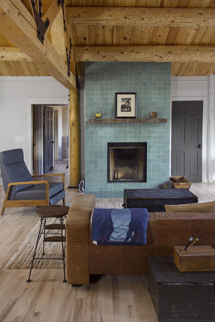 Fireclay Tile fireplace, Woodstock, NY