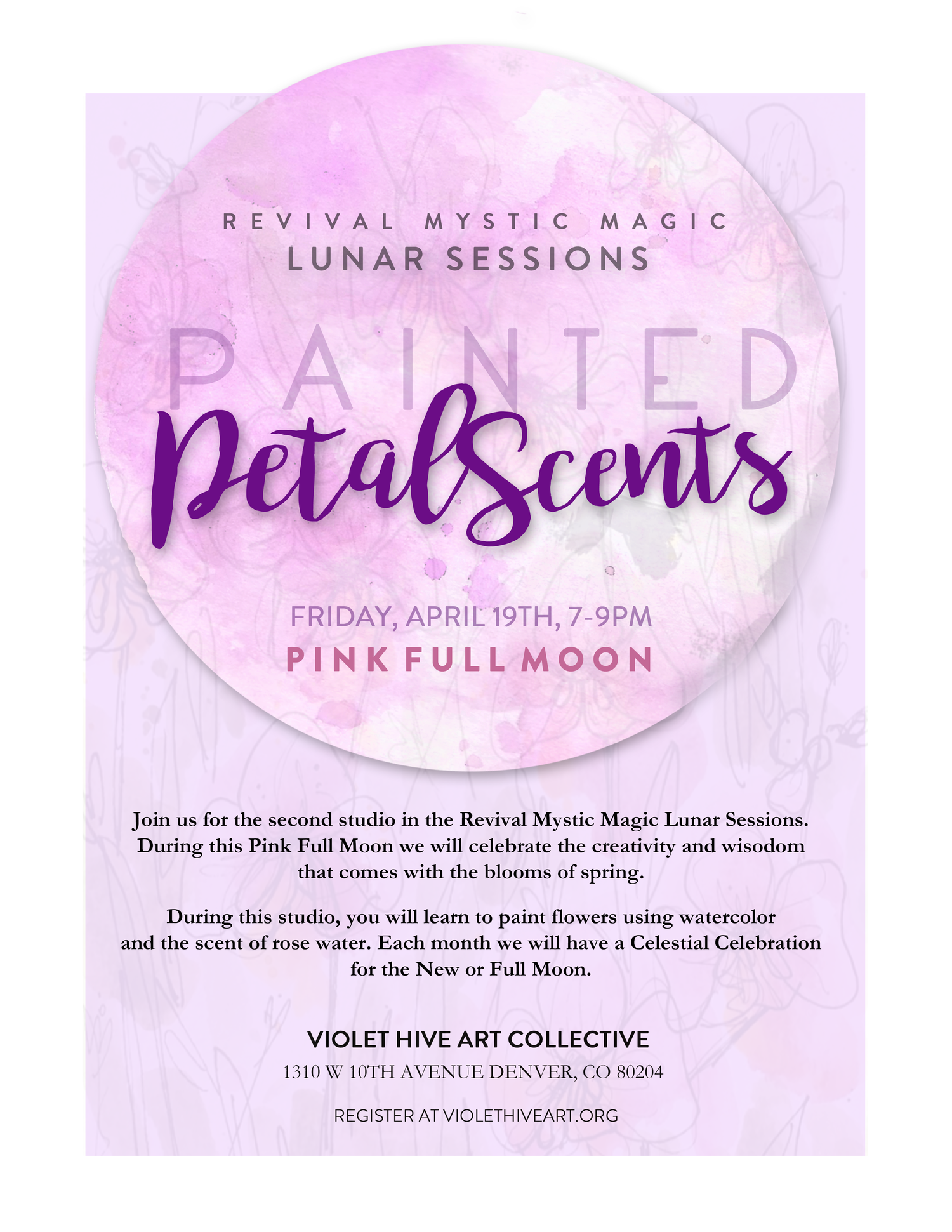 Please fill out a participant waiver as well.   https://www.violethiveart.org/participant-waiver