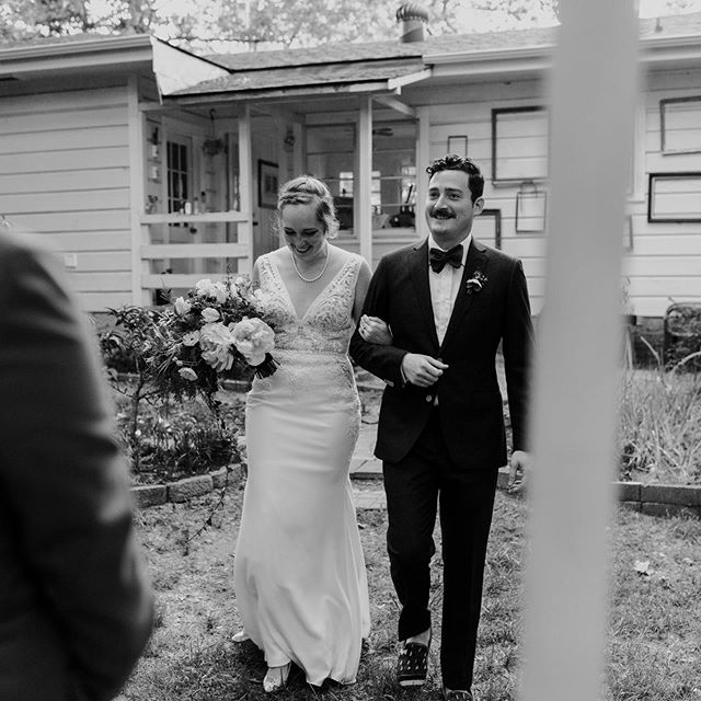 A week ago today I got married barefoot in the backyard to my sweet, hilarious, and endlessly considerate partner @dannyrwbaskin. I'm extraordinarily lucky to be surrounded by such wonderful friends and family. We had amazing food from @sweetfreedomcheese, gorgeous floral arrangements sourced partially from our houseplants and arranged by the brilliant @fleurish_nwa, and superb guidance by @sonnetweddings. All of these touching, fabulous photos were taken by the skilled and kind @keelymontoyaphoto. My stunning dress was from the lovely folks @tesori_bridal. I have so, so many more folks to thank for supporting Danny and I in this wild party. It's been a crazy whirlwind of a week and I'm thrilled to see what comes next!
