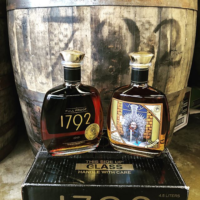 "Hello, fellow Pigs! Our 1792 barrel has arrived from Bardstown, KY. We know you've all been waiting anxiously (though some not so patiently) for this one. We'll be tasting it all day on Saturday. Come by, admire ""The Bourbon Throne"" custom label, have a taste, and then grab a bottle before they disappear.  1792 - 9 Years Old, 125 Proof  #bourbon #bourbonbarrel #barrelpick #storepick #liquor #liquorstore #houstontx  #followtheblindpig"