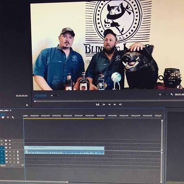 @bcstrubberg is getting started editing the latest @blindpigliquor video starring @thedrunkenpig_htx and @awalker610. Look for a serious production about small batches, single barrels, and store pick single barrels soon. And an outtakes video will follow soon after.  #liquor #liquorstore #whiskey #bourbon #singlebarrelbourbon #smallbatchbourbon #storepick #houstontx #internetcelebrity  #followtheblindpig