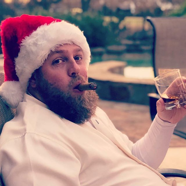 Bourbon Claus wishes you and yours a very Merry Christmas.  #merrychristmas #christmas2018 #christmasthrowback #bourbon #cigar #liquorstore #houstontx