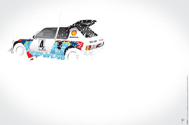 Juha Kankkunen-Juha Piironen, Peugeot 205 T16 E2, 1986 Swedish Rally