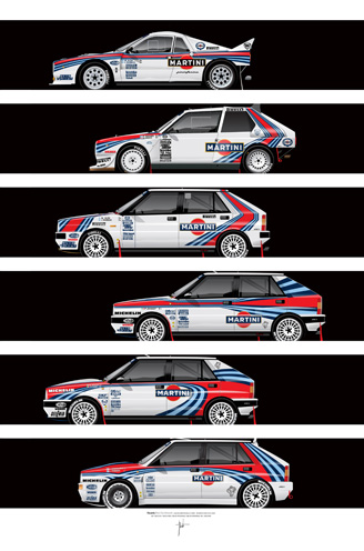 Lancia Martini Rally Cars