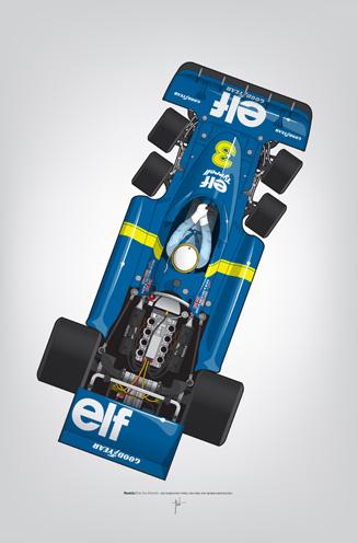 Outline Series N.º3, Jody Scheckter, Tyrrell-Ford 1976