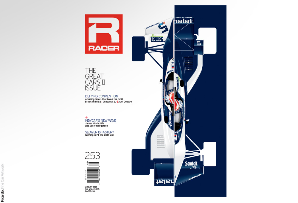 Illustration:  Brabham BT52 BMW, RACER Magazine August 2013 issue cover   Client: RACER Magazine