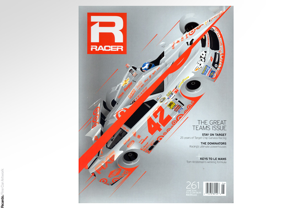 Illustration: 25 years of Target Chip Ganassi Racing, RACER Magazine June 2013 issue cover Client: RACER Magazine