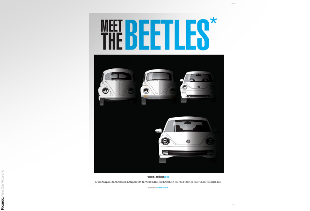 Infographic: Volkswagen Beetle story Client: Turbo magazine + Volkswagen