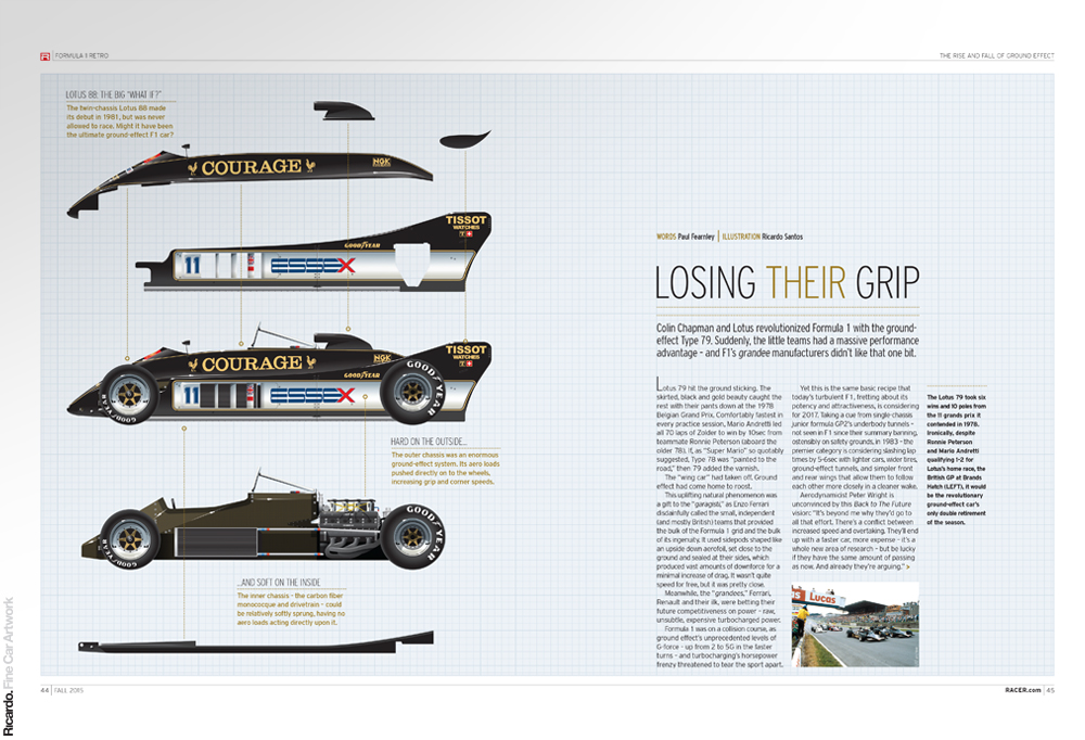 Illustration: Lotus 88 Client: RACER Magazine