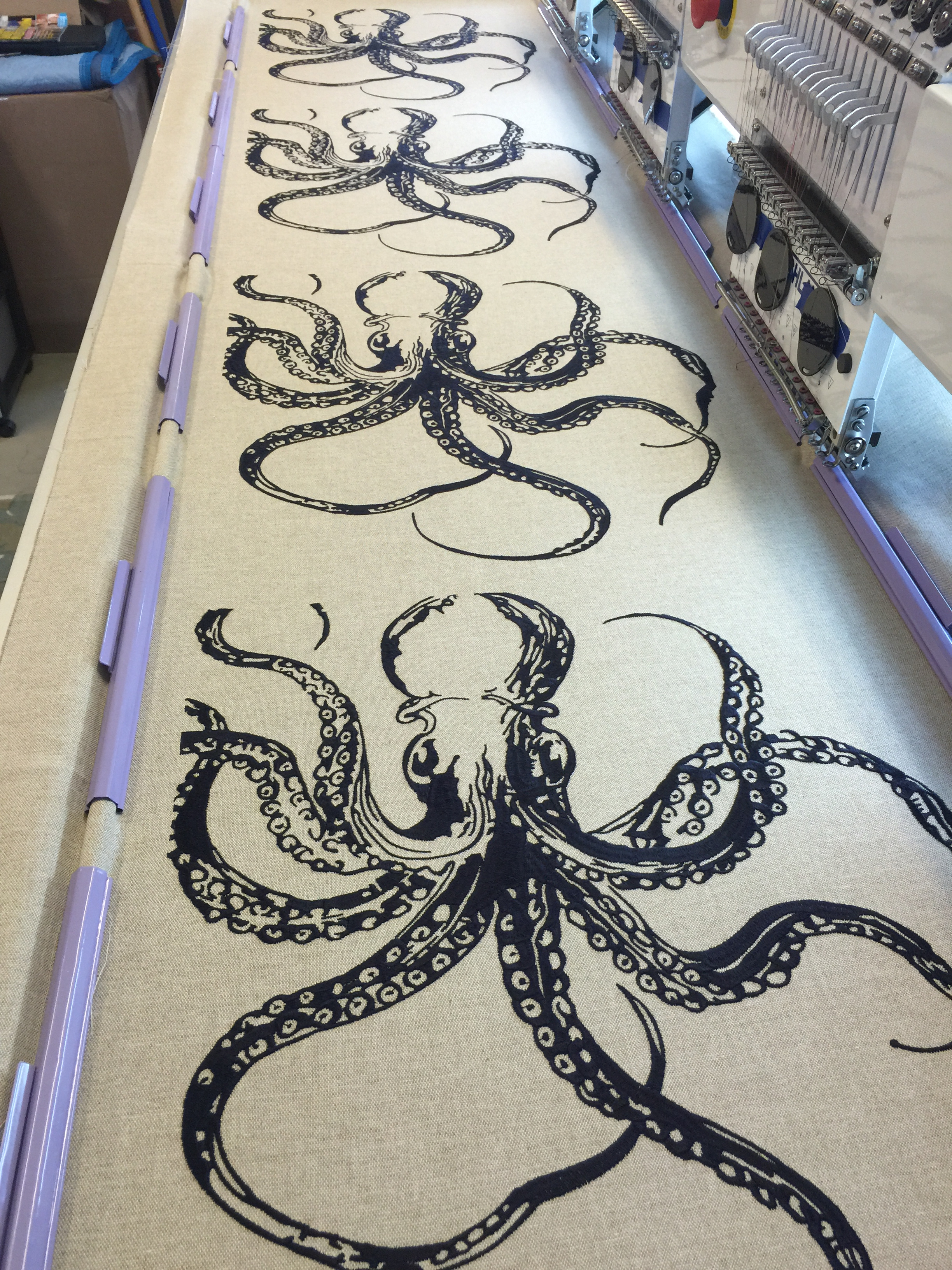 Embroidered Octopus