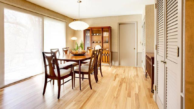 Mid Century Modern Dining Room in South Minneapolis