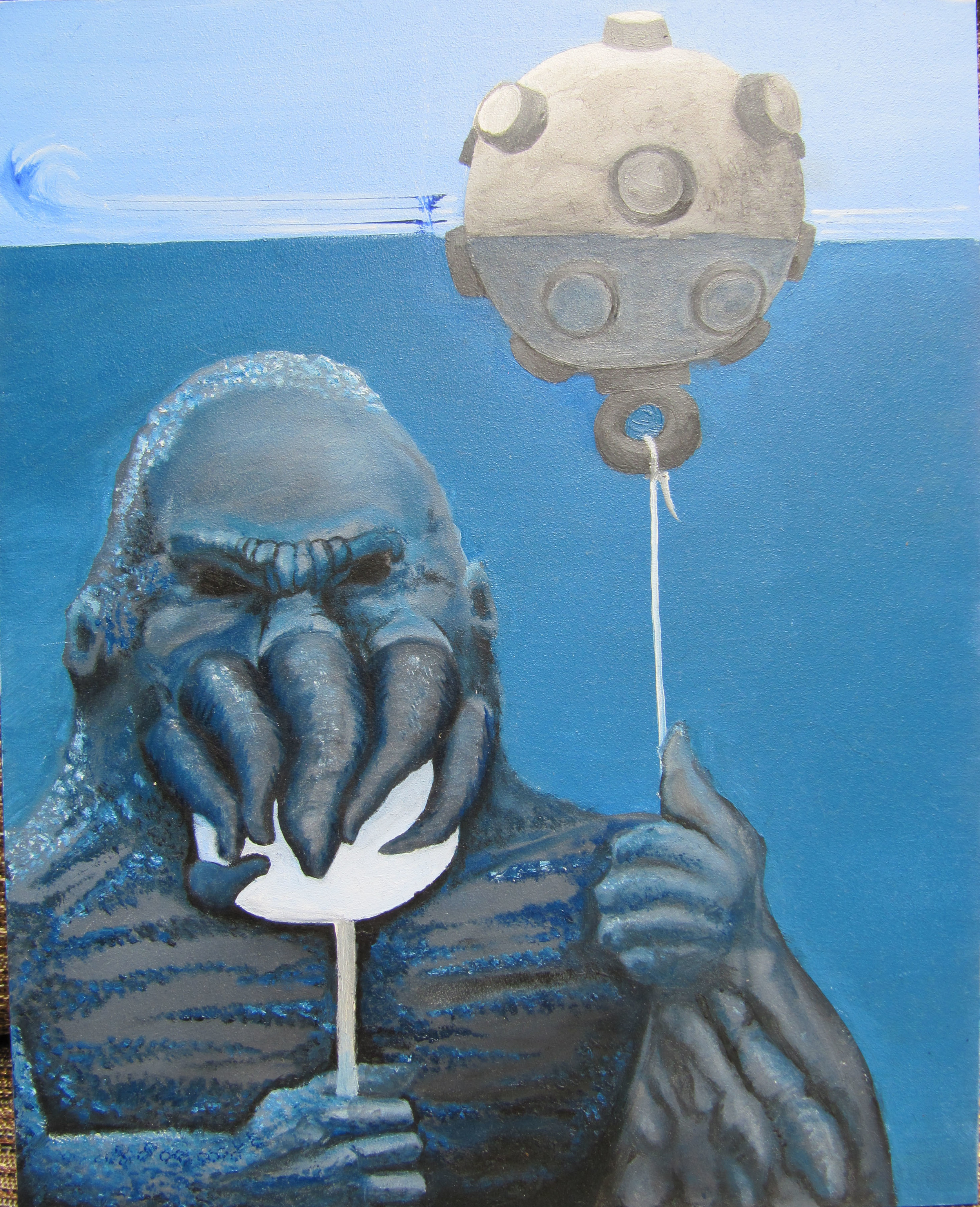Cthulhu with sucker and balloon mine by Erik Roggeveen