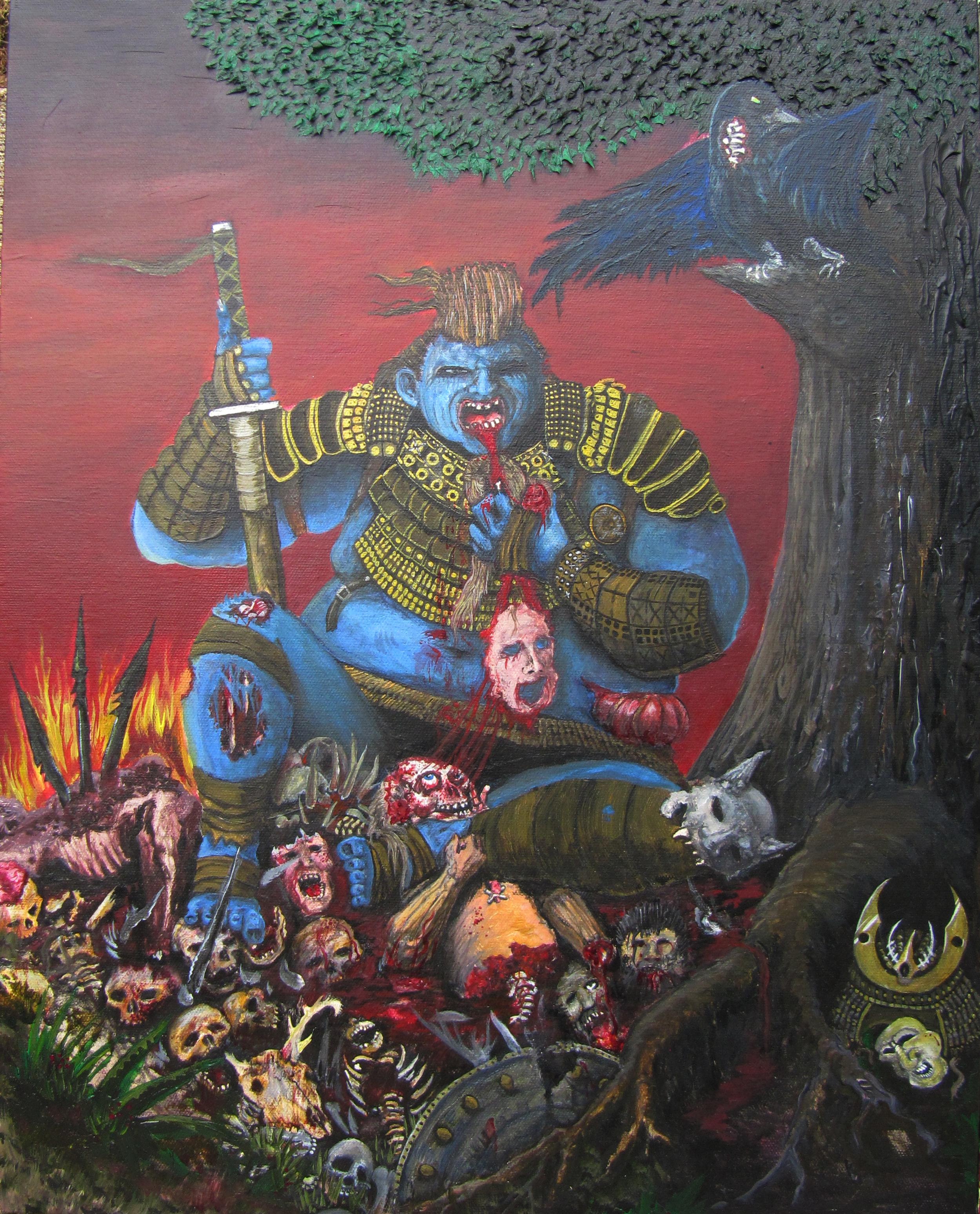 Fat Zombie Samurai painting by Erik Roggeveen