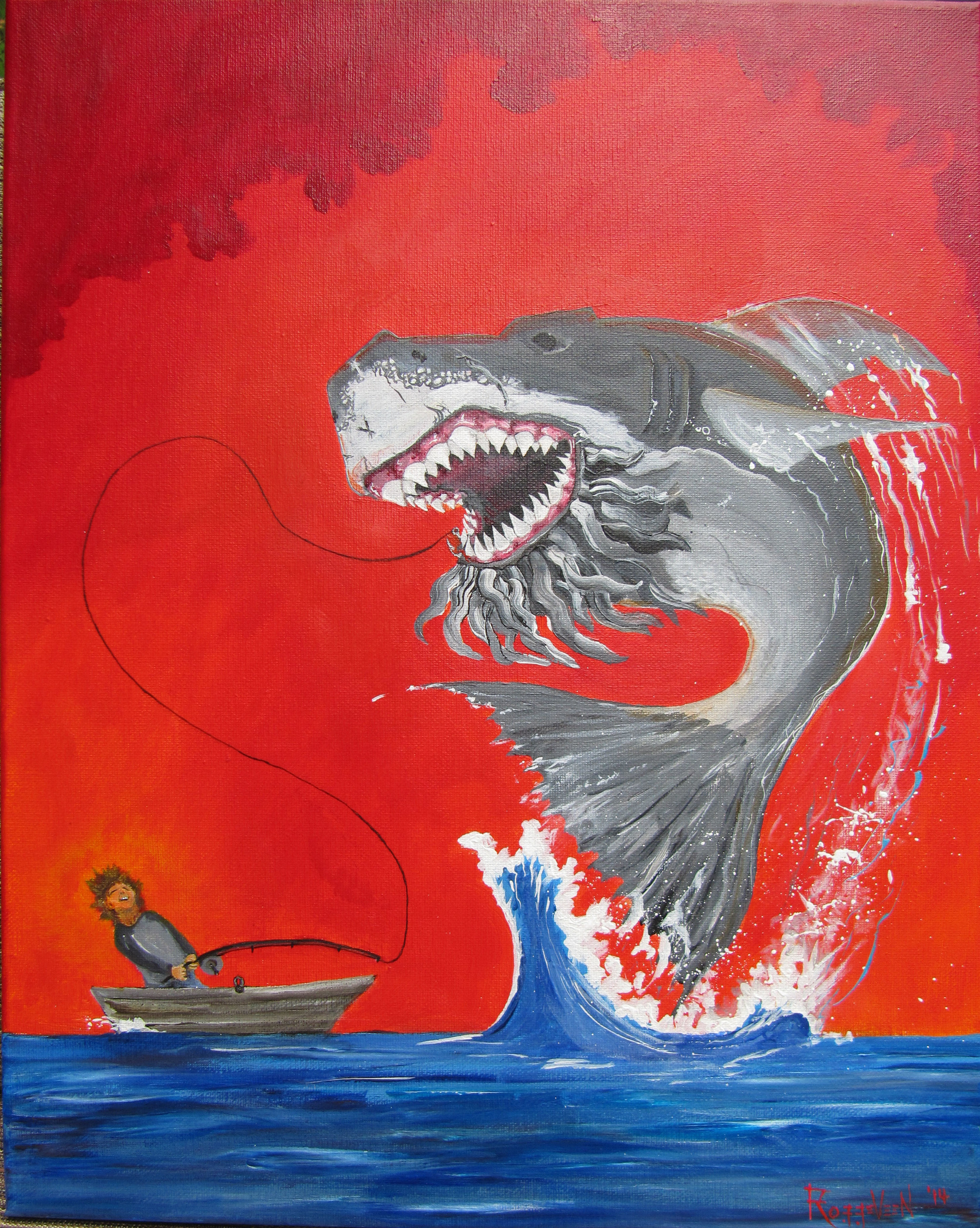Sharked Shark Fucked Fishing by Erik Roggeveen