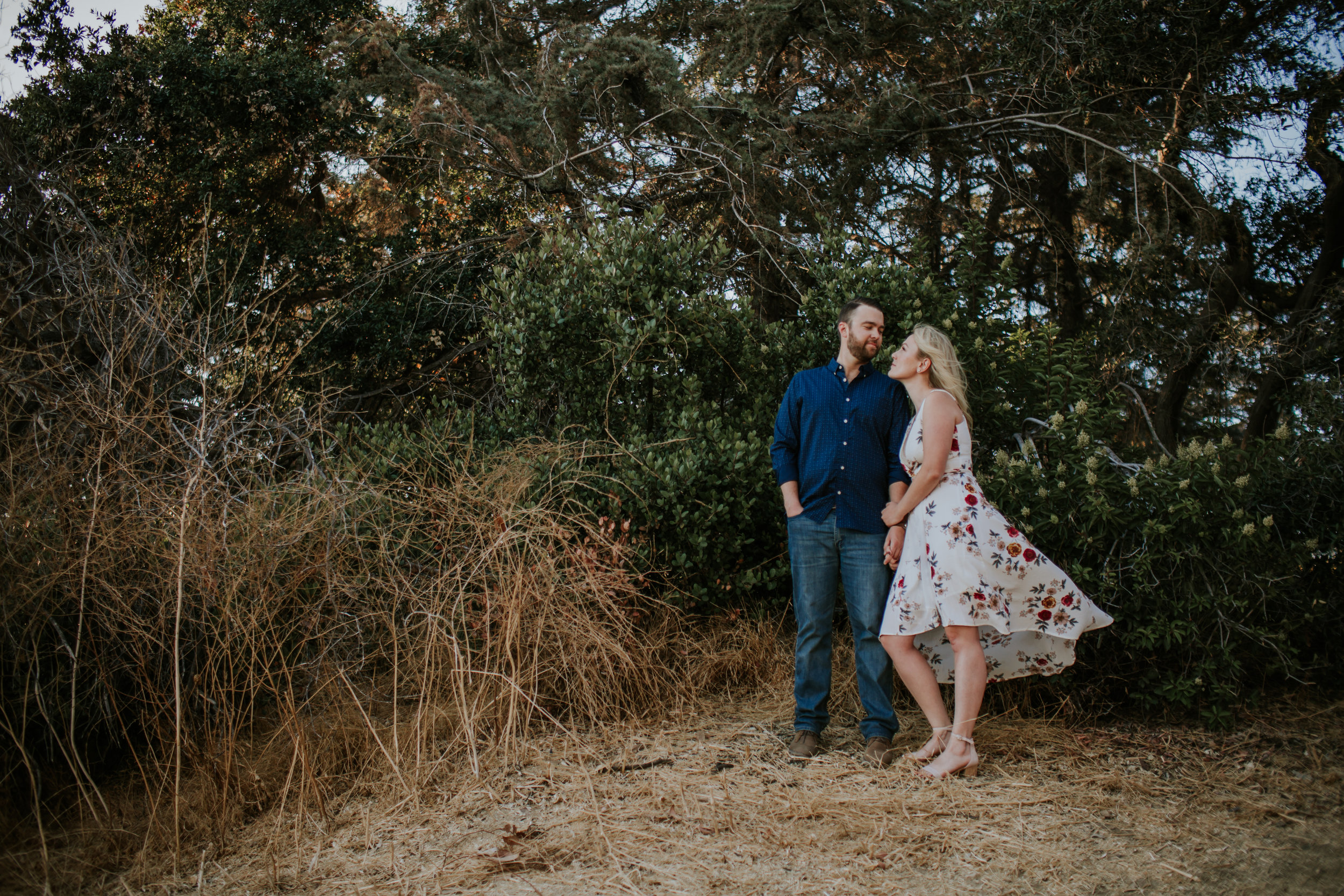 Adela and Scott Los Angeles sunset - woodsy engagement session-5.jpg