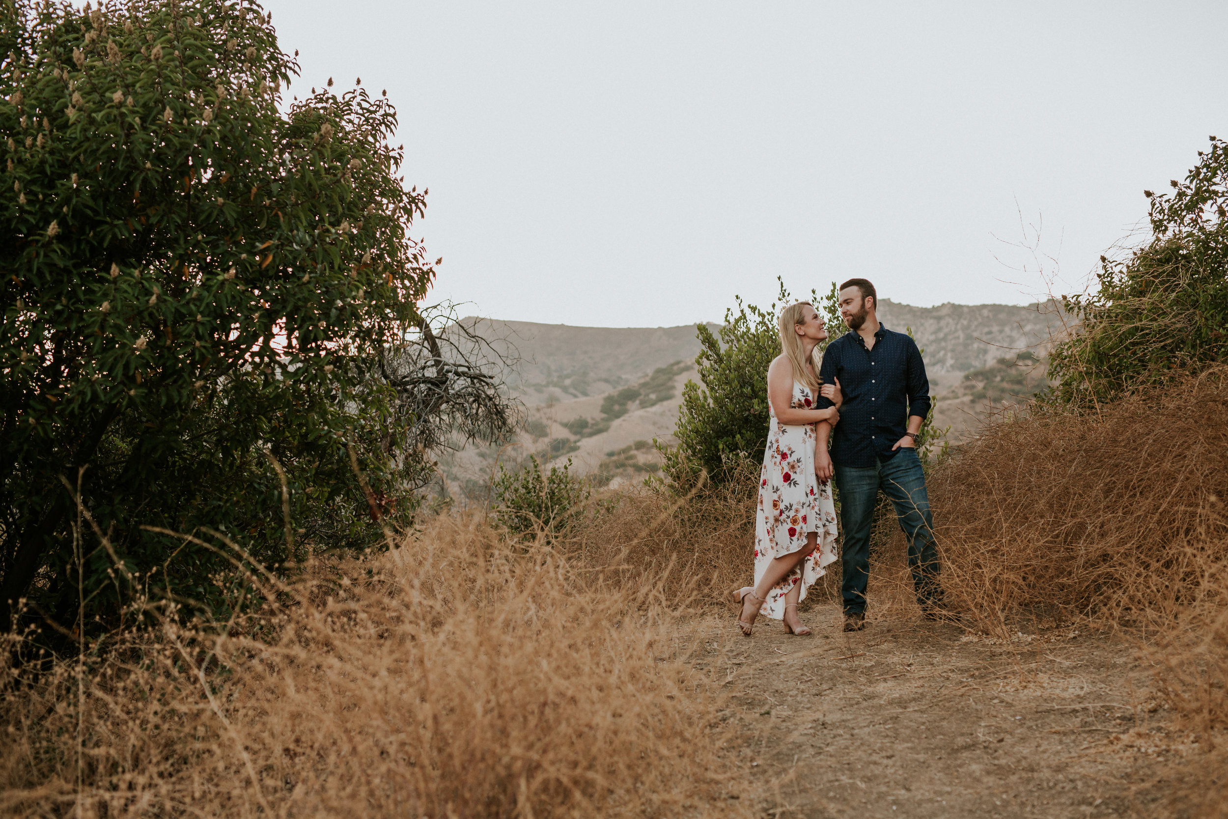 Adela and Scott Los Angeles Griffith Park Outdoor Engagement Session-92.jpg