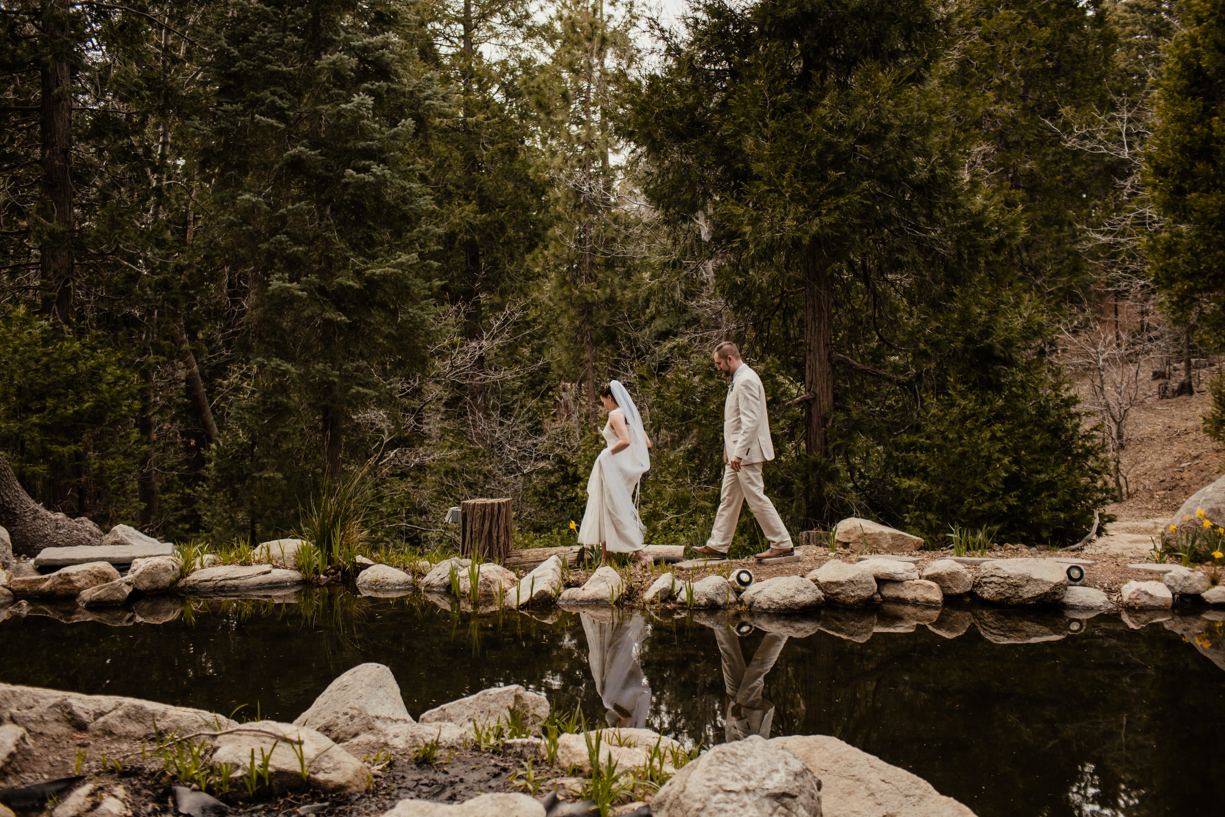 Ariel and Josh Lake Arrowhead Pine Rose Cabins Wedding -116.jpg