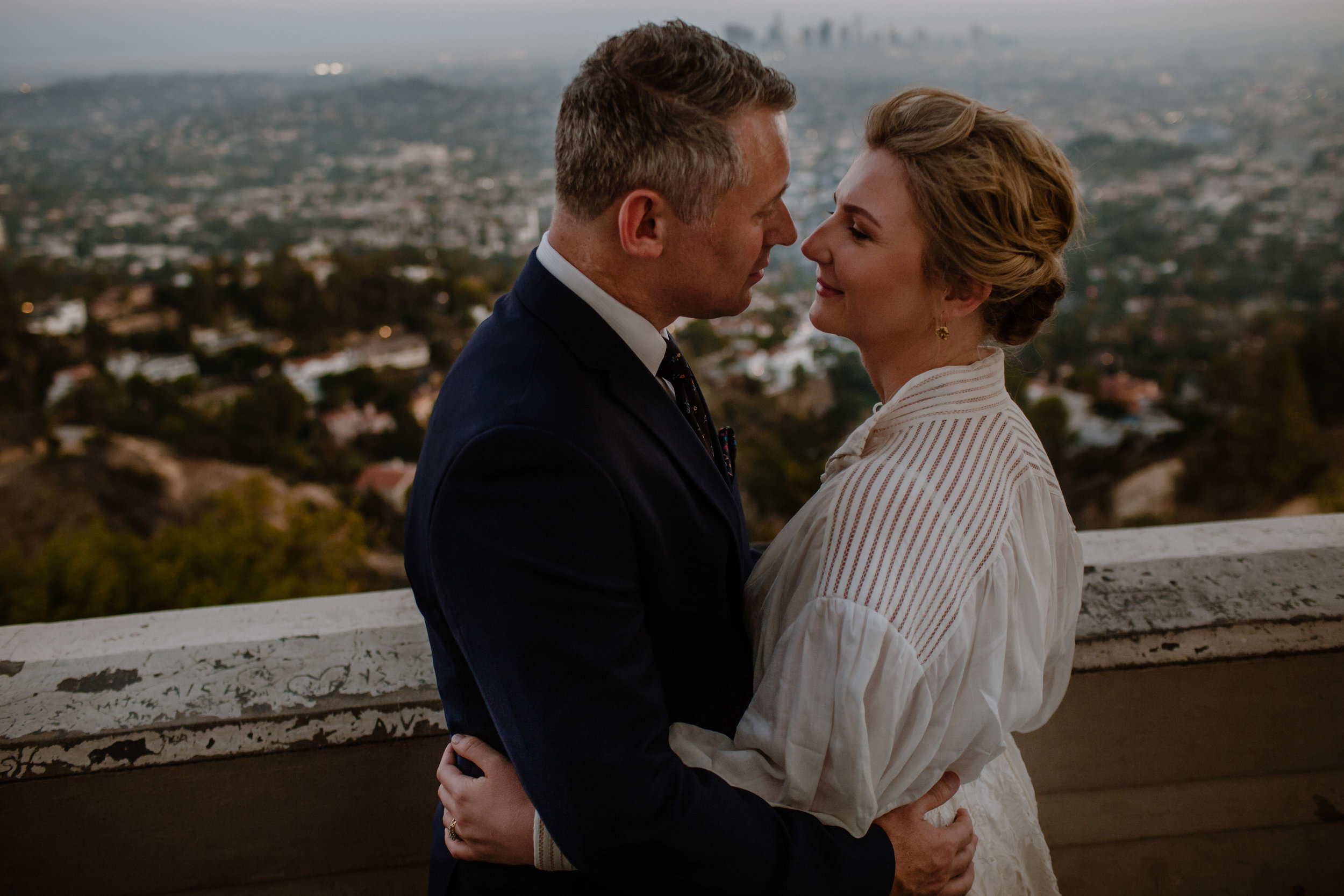Iva and Simon Griffith Observatory Elopement Los Angeles Wedding-54.jpg