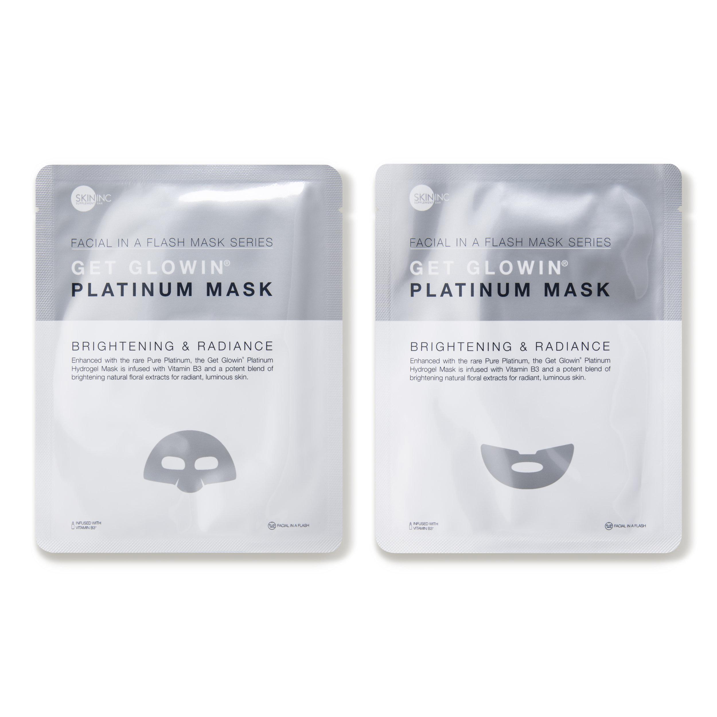 8. SKIN INC Supplement Bar Get Glowin Platinum Gold Mask (3 count) $33.00 from www.dermstore.com