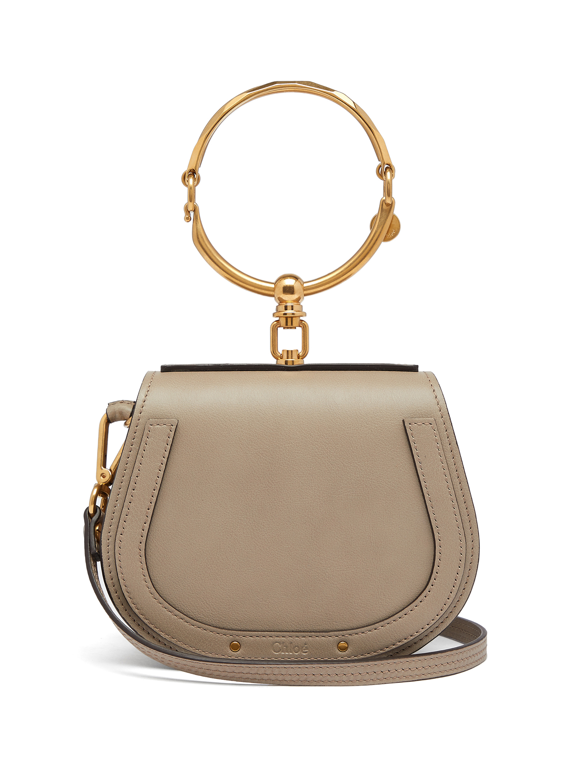 5. Chloé Nile Small Leather and Suede Cross-Body Bag in Grey $1,690 from www.matchesfashion.com