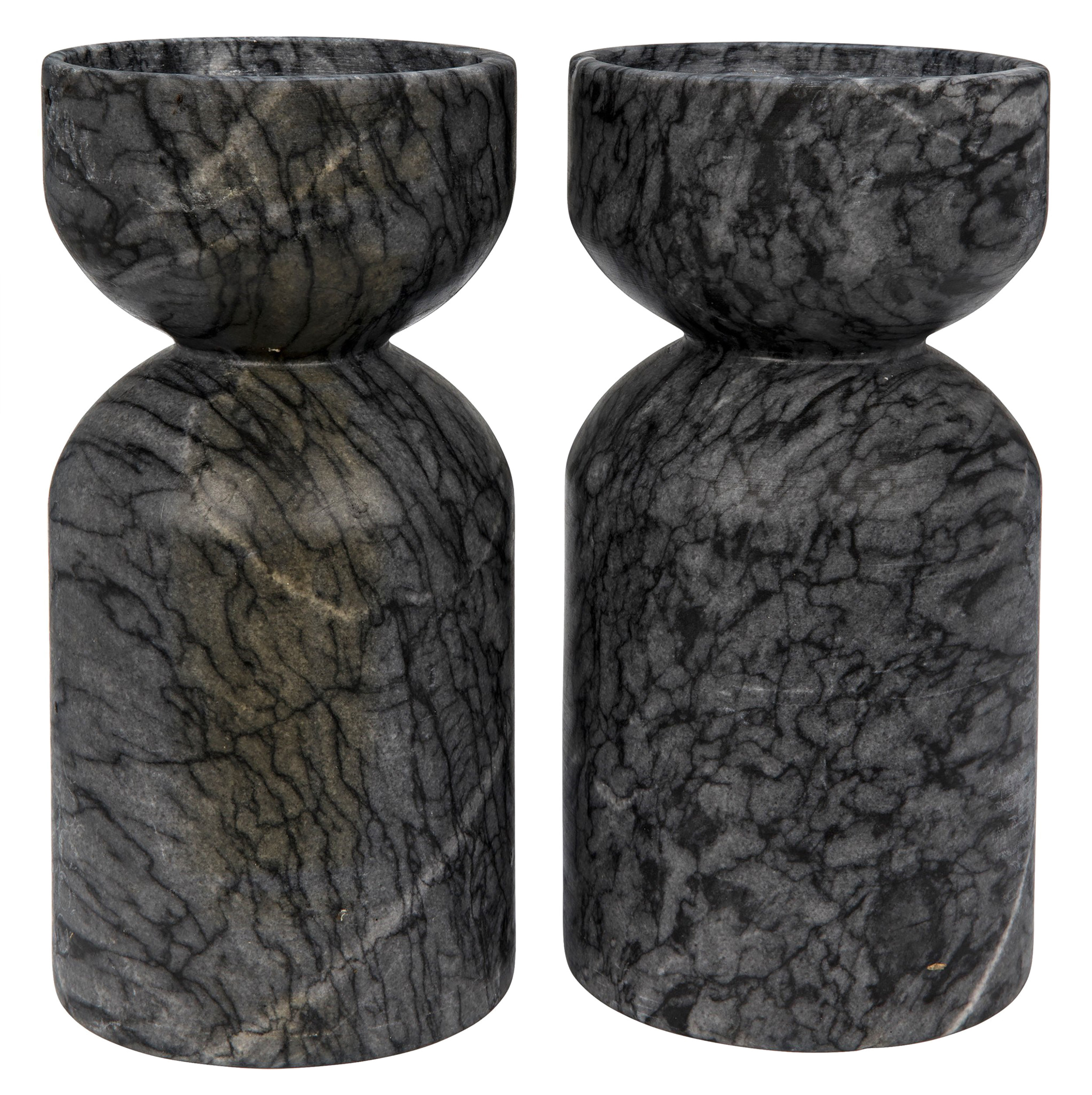 Marble Decorative Candle Holders (Set of 2)