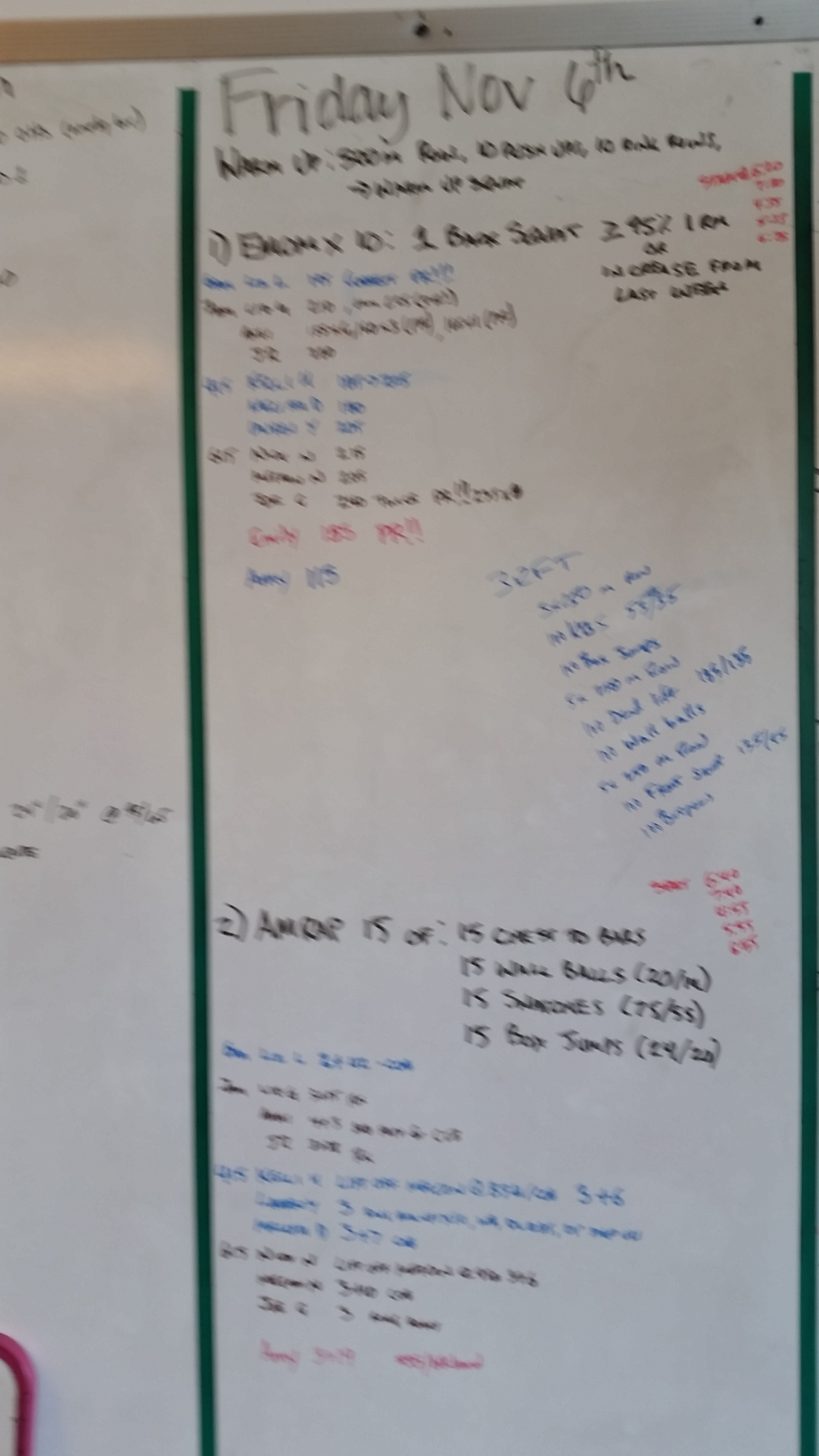 20151106  CrossFit Craft Back Squat Chest to Bar Pull Ups Wall Balls Snatches Box Jumps