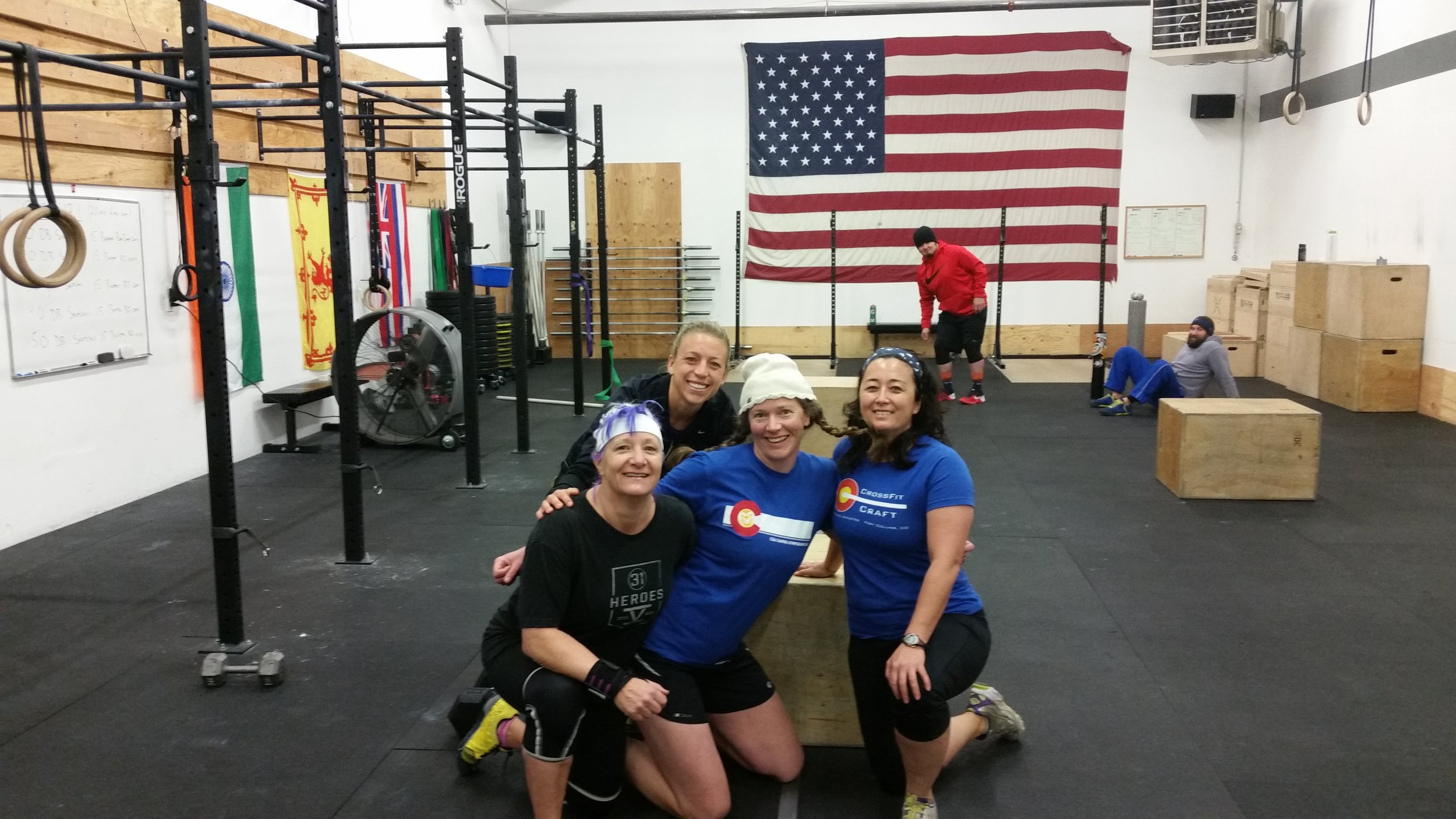 Kim Liz Colleen Lynn Kieran Bryan Open 2017 CrossFit Craft Games