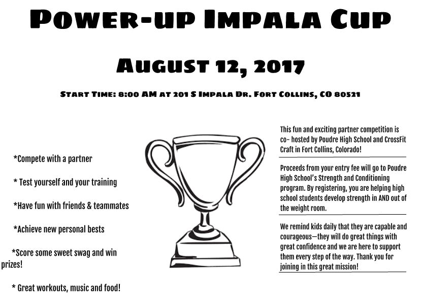 Power Up Impala Cup Poudre High School CrossFit Craft 1