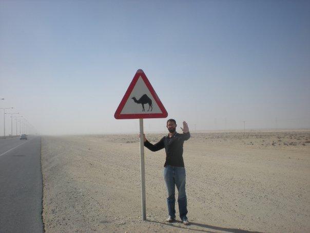 I always slow down at camel crossings.