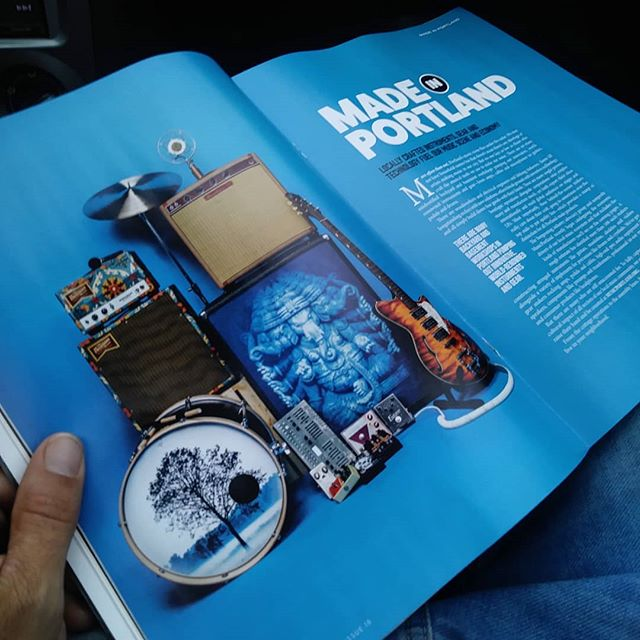 @vrtxmag dropping love for Portland made audio instruments. Our first amp amongst the party.