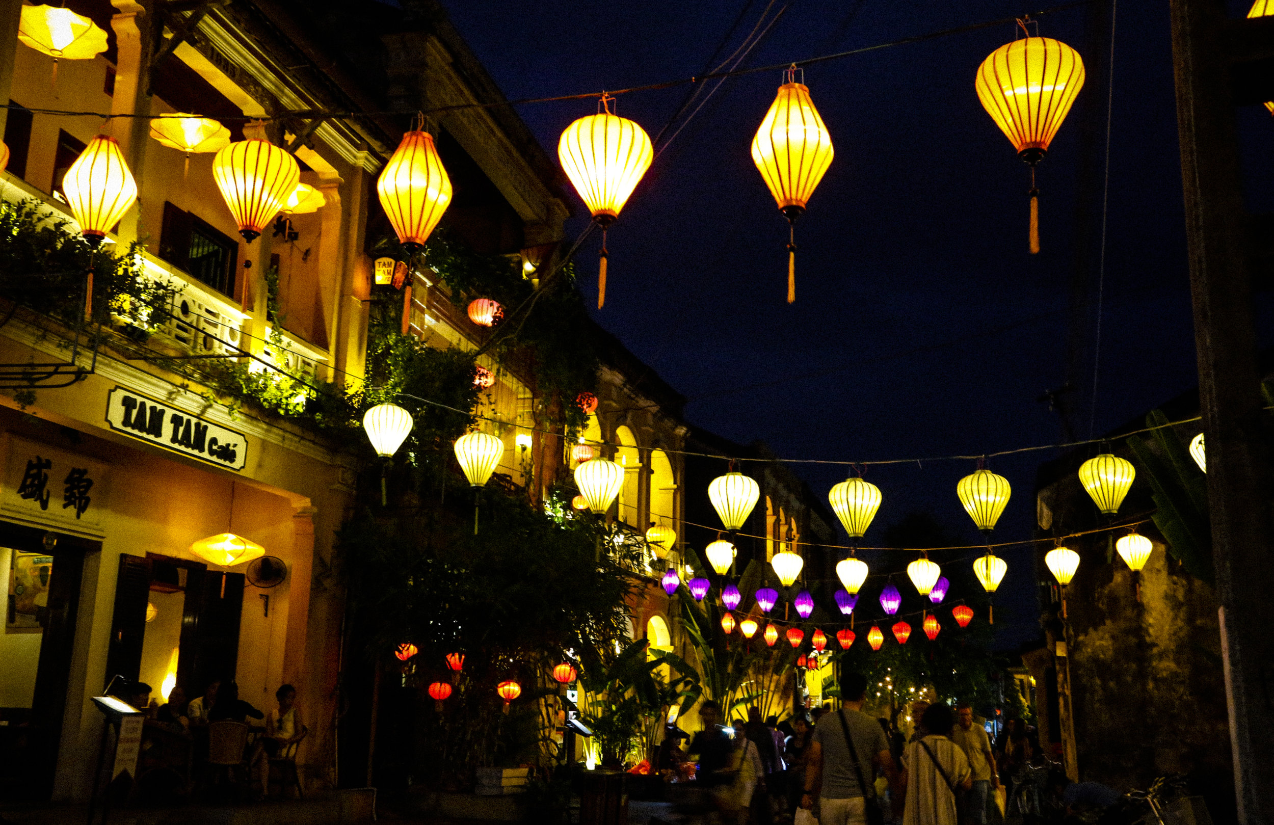 Streets of Hoi An at Night.