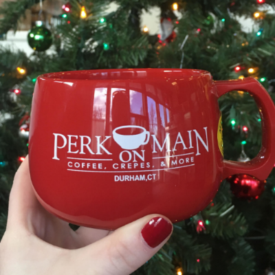Pledge $50 or more  and get a Perk mug with a free drink and a Perk t-shirt