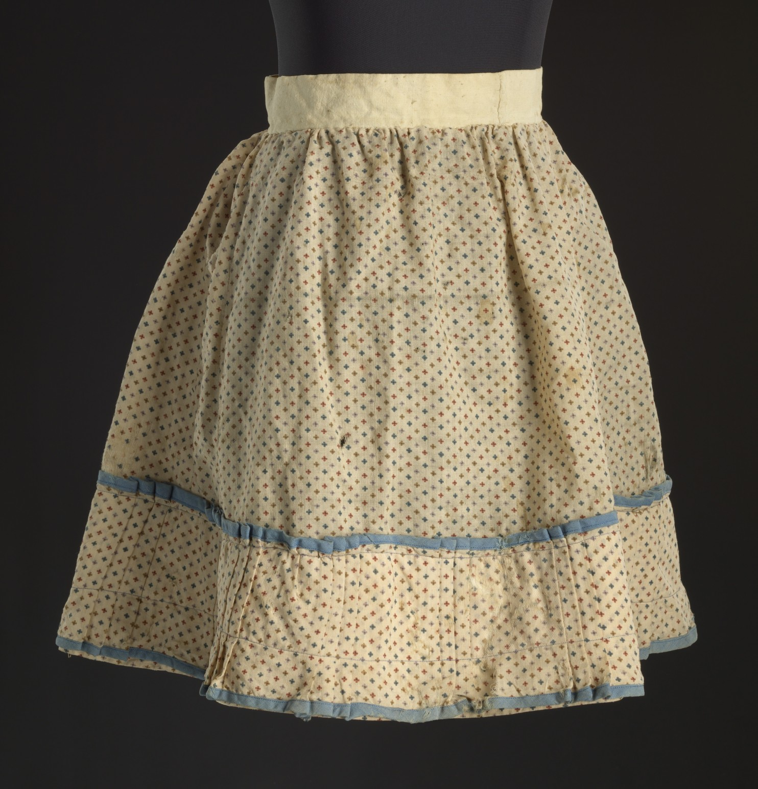 This flowered skirt worn by a little girl enslaved in Virginia will be on display at the National Museum of African American History and Culture. (Collection of the Smithsonian National Museum of African American History and Culture, Gift of the Black Fashion Museum founded by Lois K. Alexander-Lane)