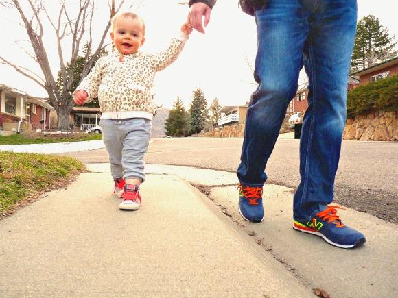walking with dada - this little joy