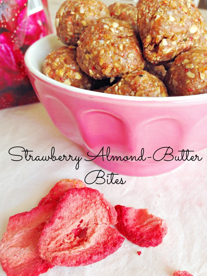 Strawberry Almond-Butter Bites - This Little Joy