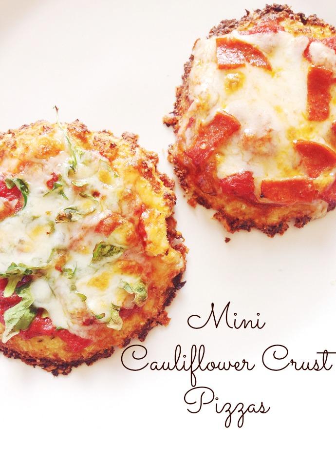 Mini Cauliflower Crust Pizzas - This Little Joy