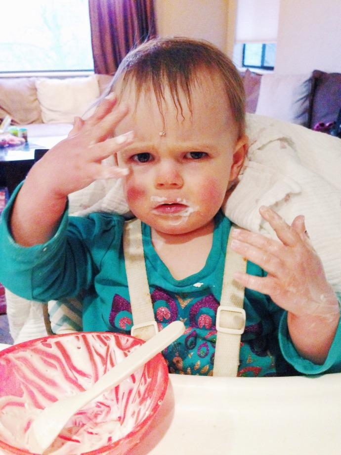 reese yogurt mess - this little joy