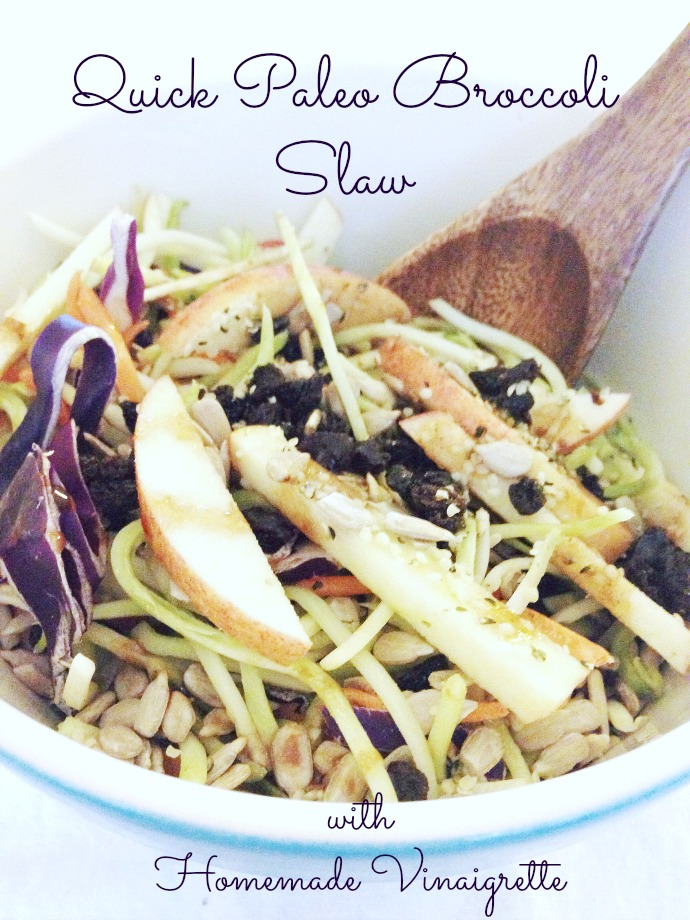 quick paleo broccoli slaw recipe - this little joy