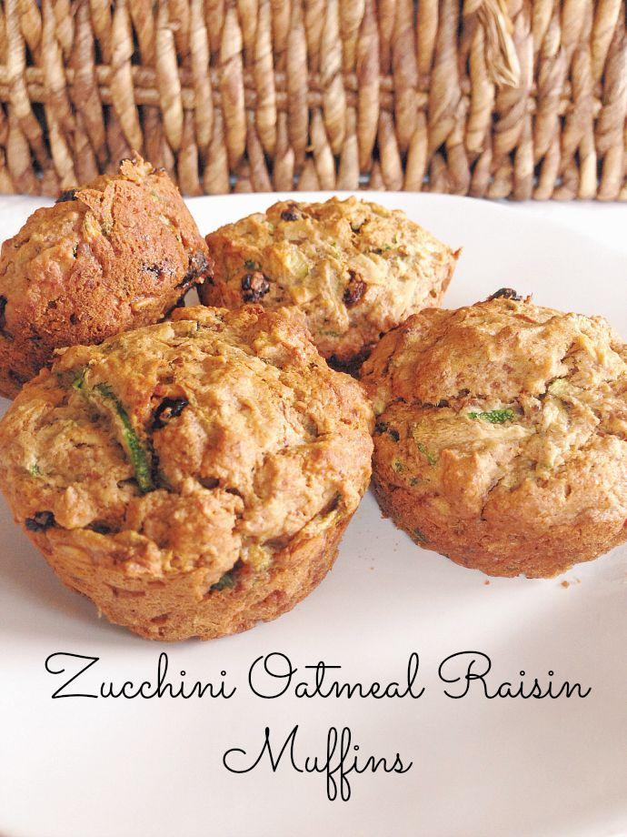 this little joy - gluten free zucchini oatmeal raisin muffins