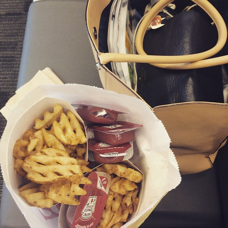 Almost 24 hours in an airport, but Chick-Fil-A cures all!