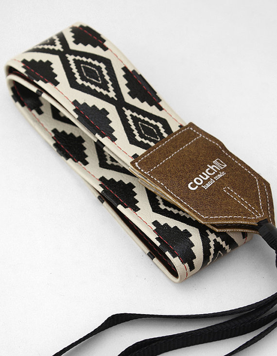 Native American Style Camera Strap by Couchguitarstraps