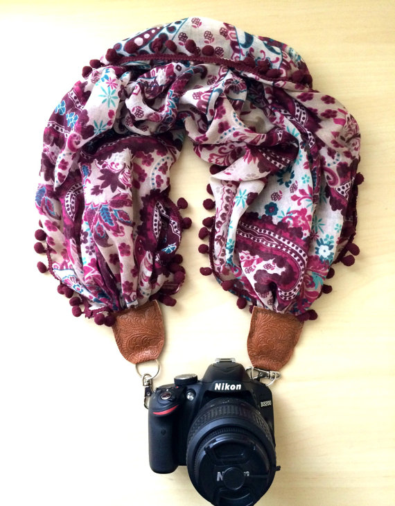 Bohemian Fringed Floral Scarf - by EarthtoEmerald