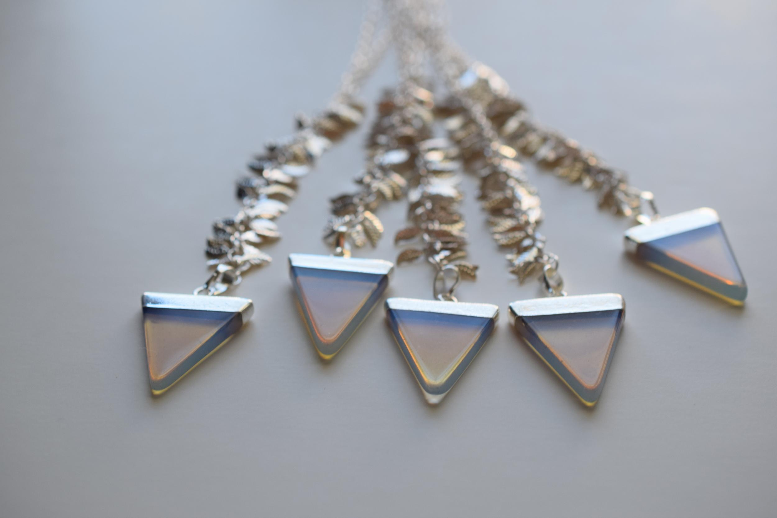 Silver Crystal Quartz Boho Necklace