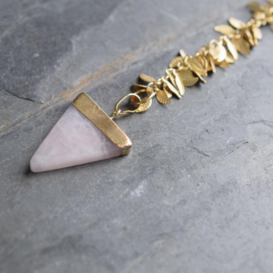 Rose Quartz Boho Necklace, available  here