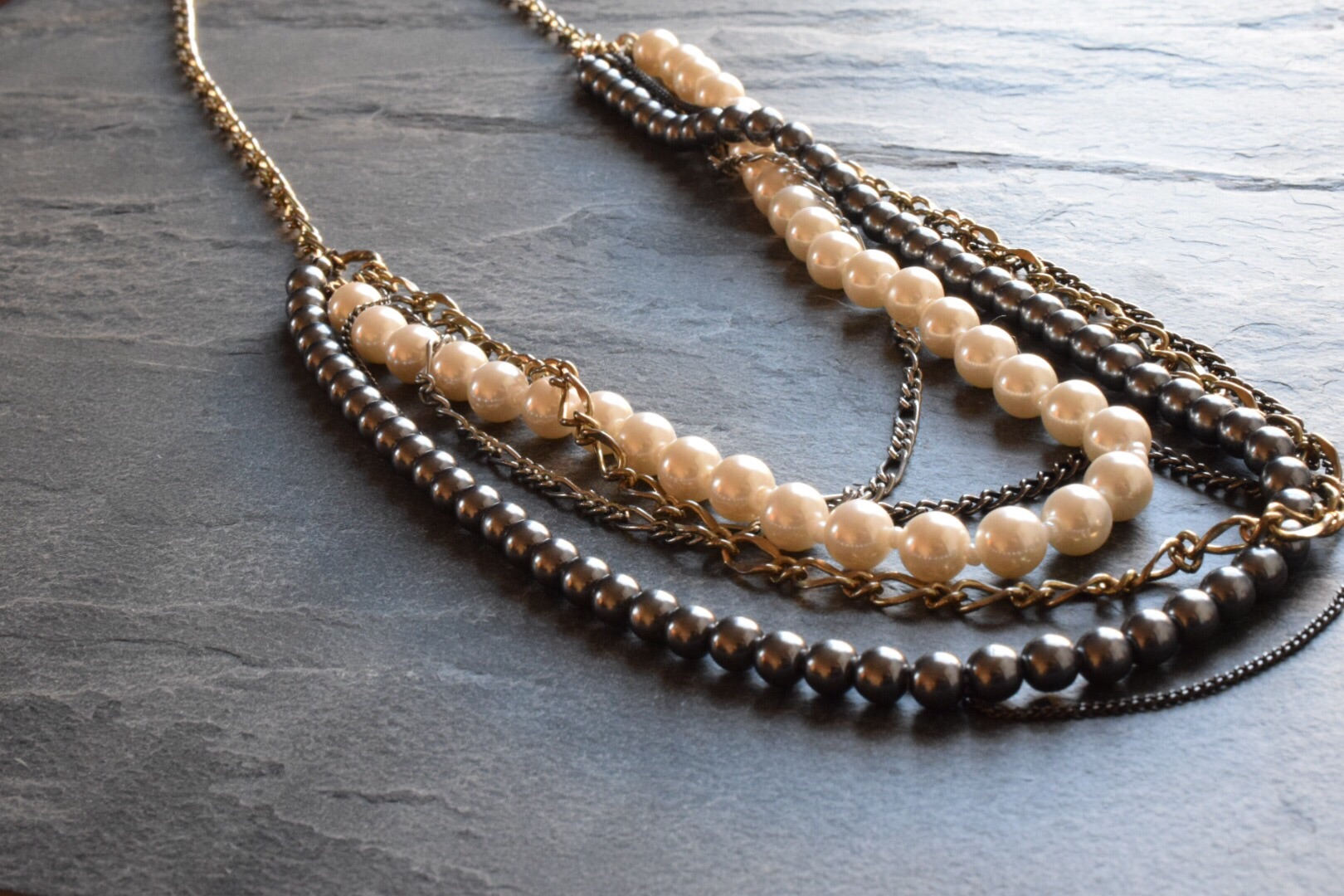This vintage pearl necklace was gorgeous but the chain had broken.