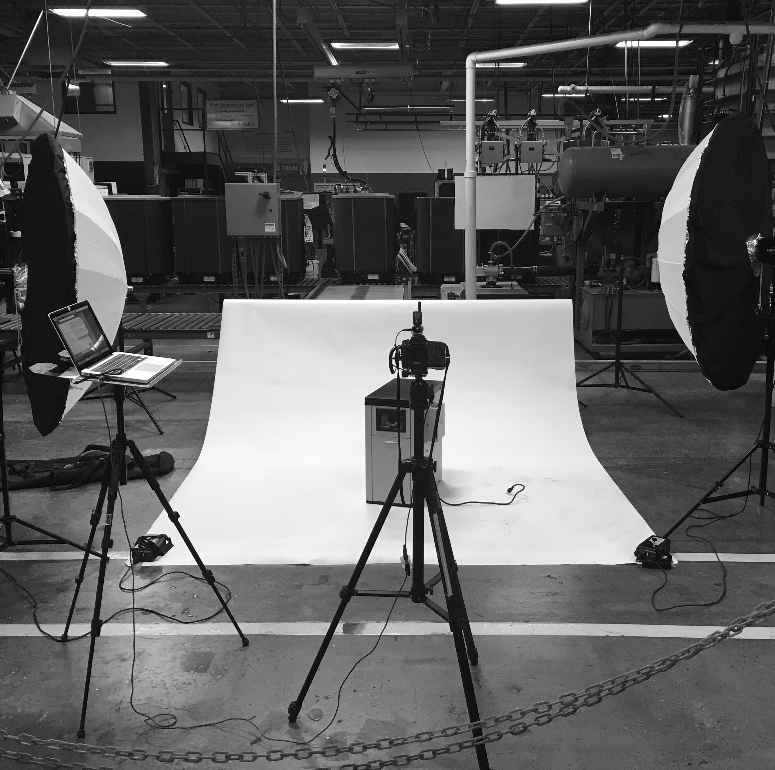 Industrial Product Photogaphy behind the scenes example