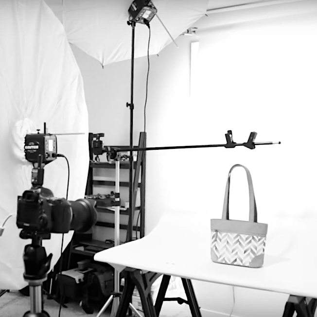 E-Commerce Product Photography behind the scenes example